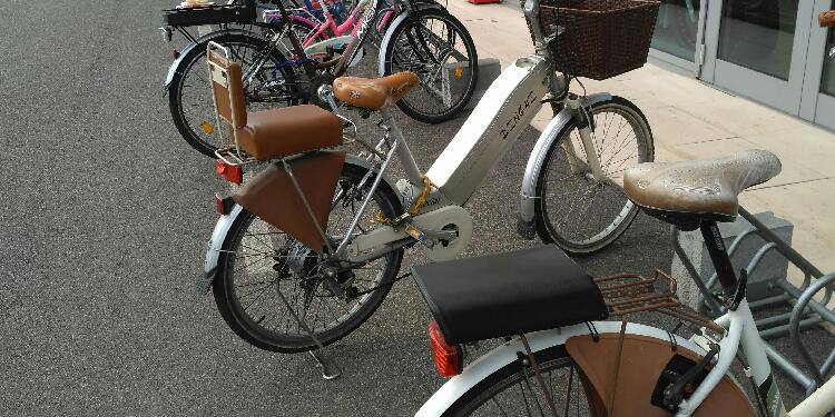 E-Bike mit Sattel