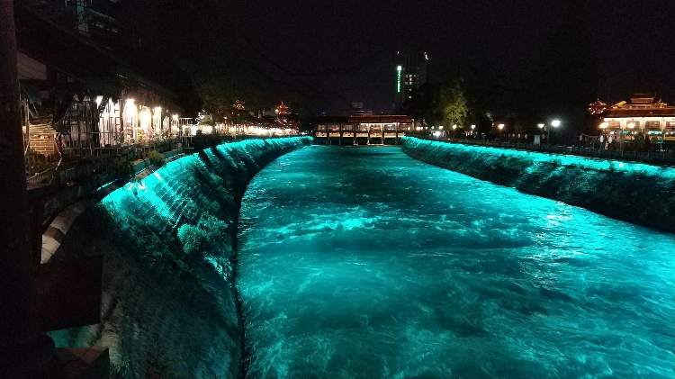 Dujiangyan by night