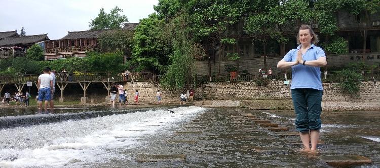 Qigong am Standbad