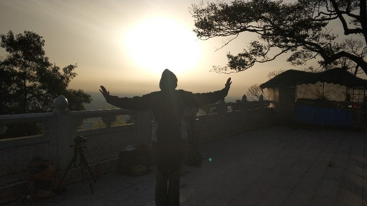 Sonnenaufgang mit Qigong