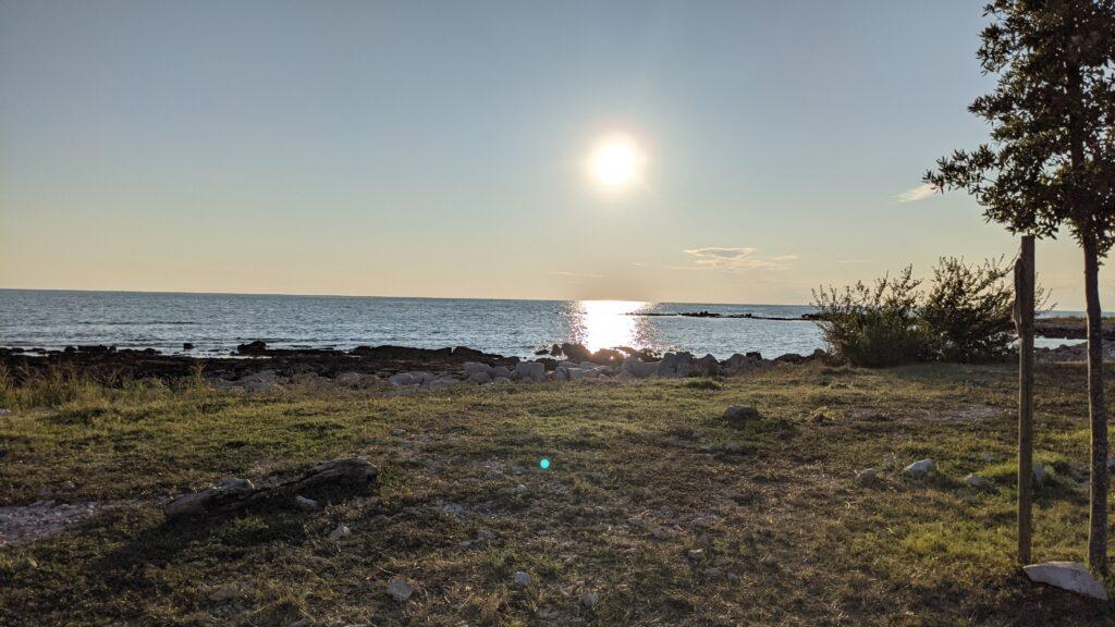 Blick übers Meer